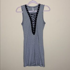 LF lace up dress